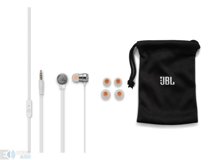 JBL T280A fülhallgató, ezüst