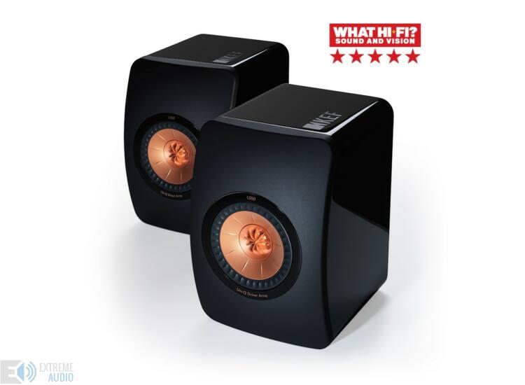 KEF LS50 polcsugárzó pár, fényes fekete