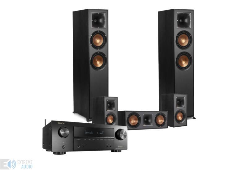 Denon AVR-X2500H + Klipsch R-820F 5.0 házimozi szett, fekete