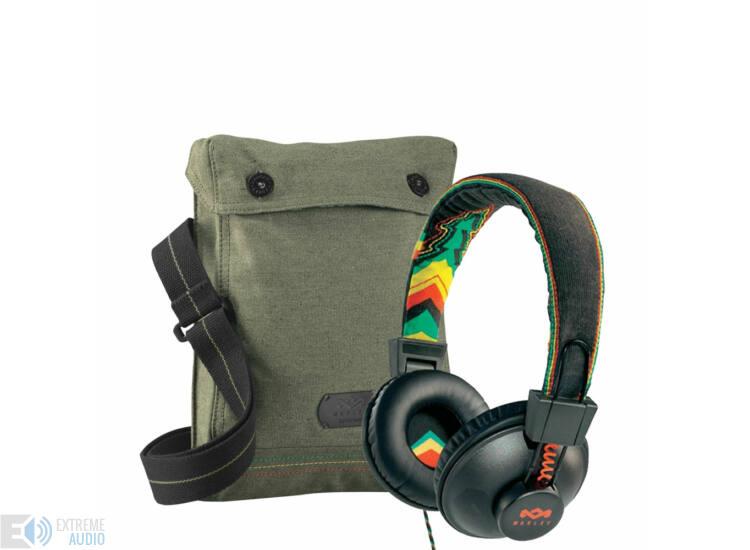 Marley Positive Vibration RASTA fejhallgató+Ajándék Vászontáska ... 0b0d41d10b