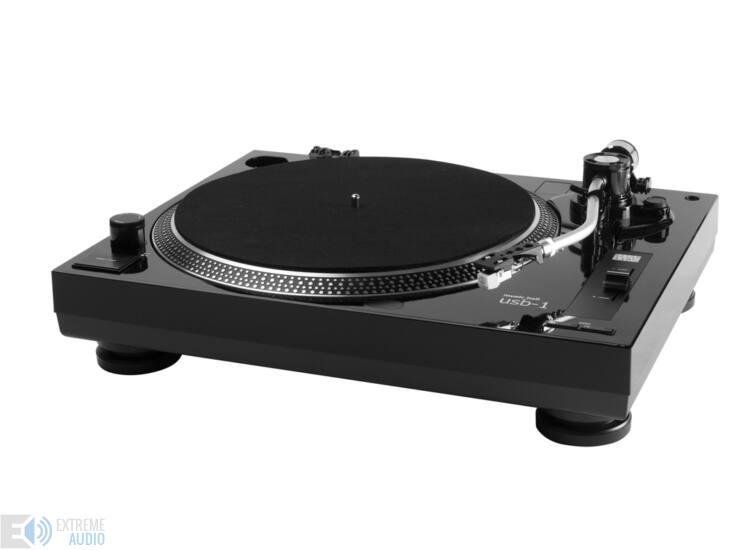 Music Hall MMF-USB1 lemezjátszó AT3600L hangszedővel, zongoralakk fekete