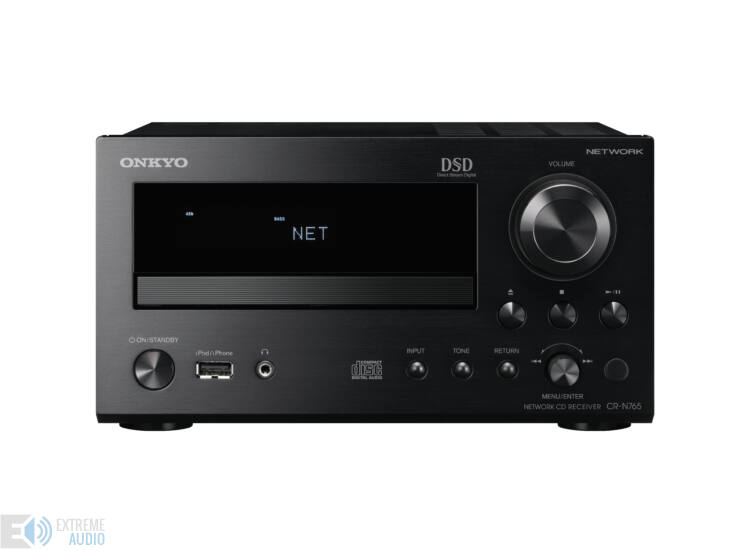 Onkyo CR-N765 hálózatképes CD rádióerősítő rendszer, Fekete