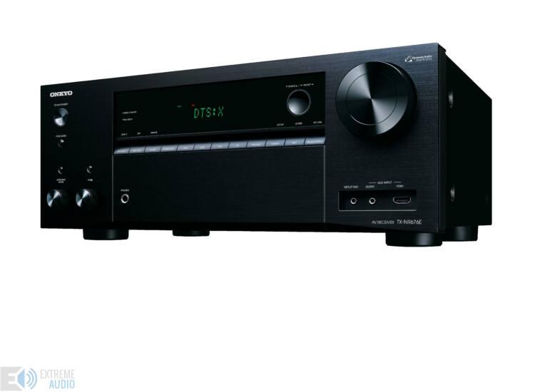 Onkyo TX-NR676 7.2 hálózatképes UHD házimozi erősítő, Fekete
