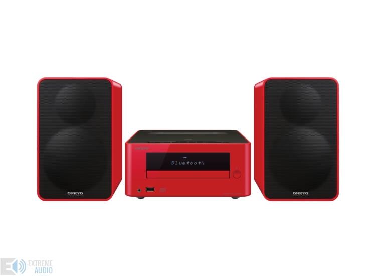Onkyo CS-265 CD-rádióerősítő mini rendszer, piros