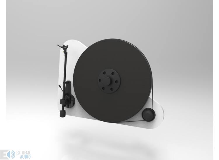 Pro-Ject VT-E L bal kezes analóg lemezjátszó fehér Orofon OM5e hangszedővel szerelve