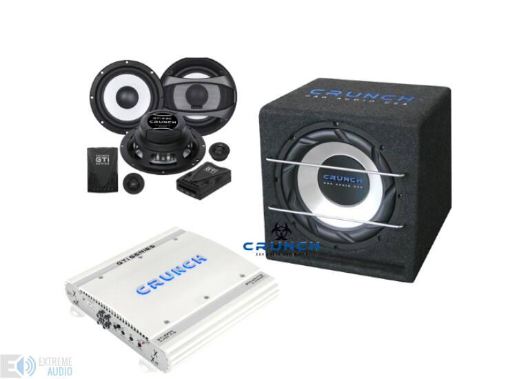 CRUNCH GTI4150 + CRUNCH GTI 6.2C + CRB350 autó hi-fi szett