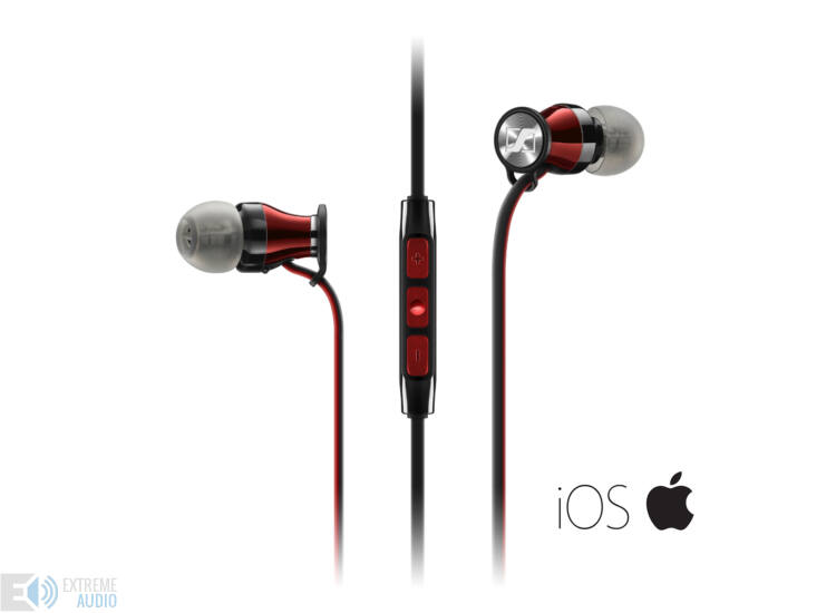 Sennheiser Momentum In-Ear fülhallgató iOS (M2 IEi), red