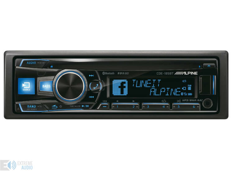 Alpine CDE-185BT CD fejlett Bluetooth® funkcióval kék