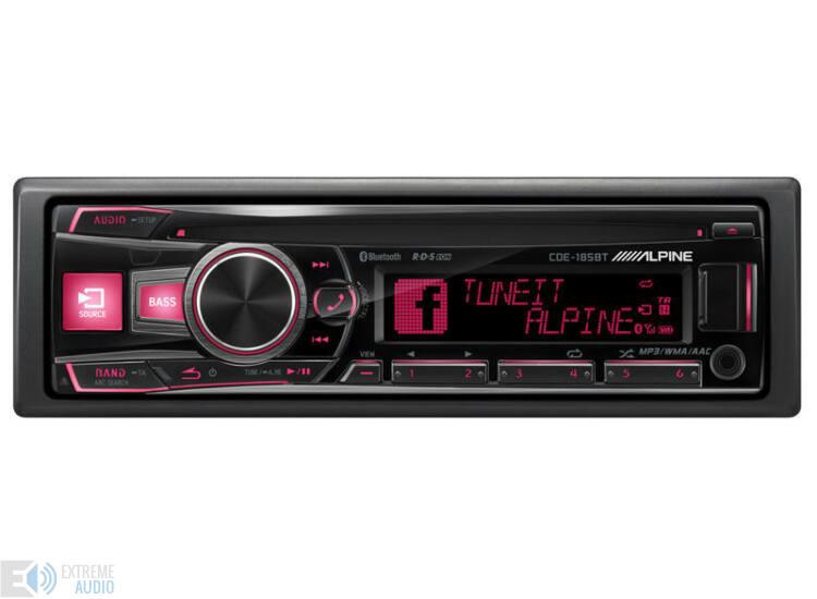 Alpine CDE-185BT CD fejlett Bluetooth® funkcióval piros