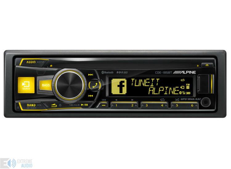 Alpine CDE-185BT CD fejlett Bluetooth® funkcióval sárga