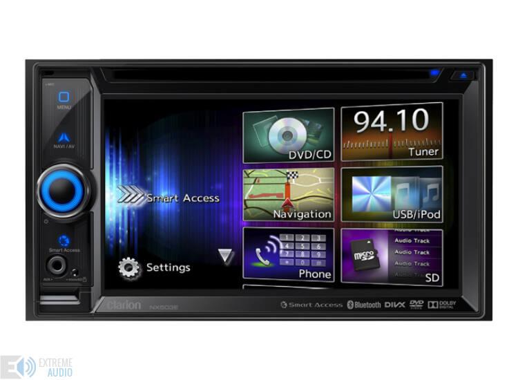 Clarion NX 503E 2 DIN multimédia lejátszó, navigációval