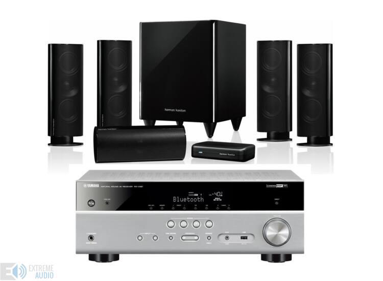 Harman Kardon HKTS 65 5.1 hangfalszett és Yamaha RX-V483 titán 5.1 házimozi szett