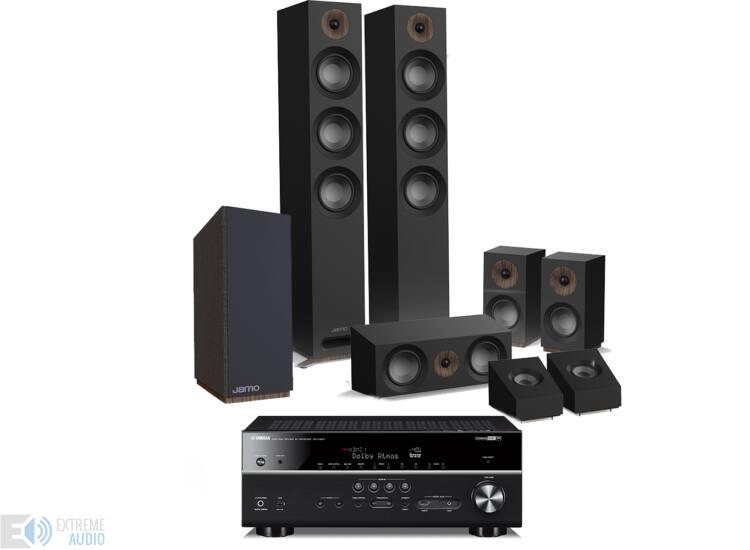 Jamo S 809 HCS 5 1 2 fekete + Yamaha RX-V683 fekete Dolby Atmos szett