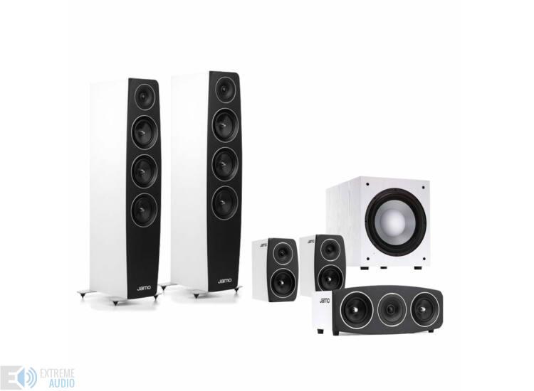 Jamo C97 5.1 fehér hangfalszett C93 háttérsugárzóval