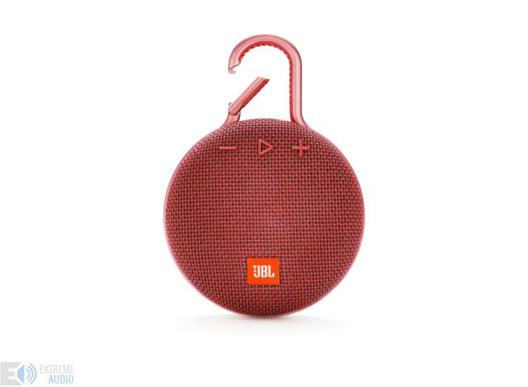 JBL Clip 3 vízálló Bluetooth hangszóró (Fiesta Red) piros