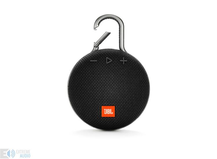 JBL Clip 3 vízálló Bluetooth hangszóró (Midnight Black) fekete