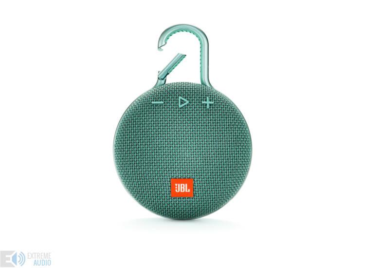 JBL Clip 3 vízálló Bluetooth hangszóró (River Teal) türkiz
