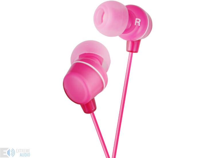 JVC HA-FX23 CLEAR COLOUR MINI fülhallható, pink