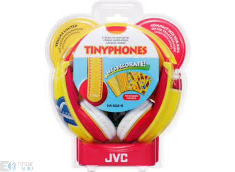 JVC HA-KD5-R KIDS fejhallgató, piros-sárga