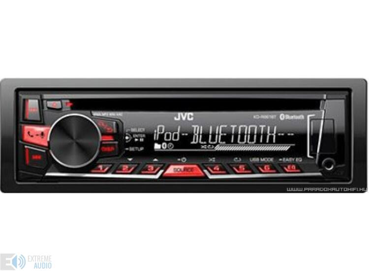 JVC KD-R861 USB MP3/CD/USB/BLUETOOTH-os fejegység + 8GB USB