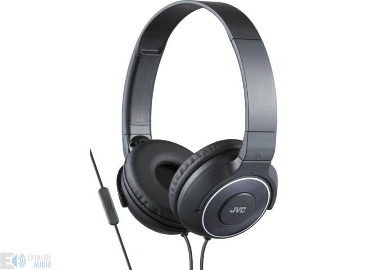 JVC HA-SR225B Premium Sound mikrofonos fejhallgató fekete
