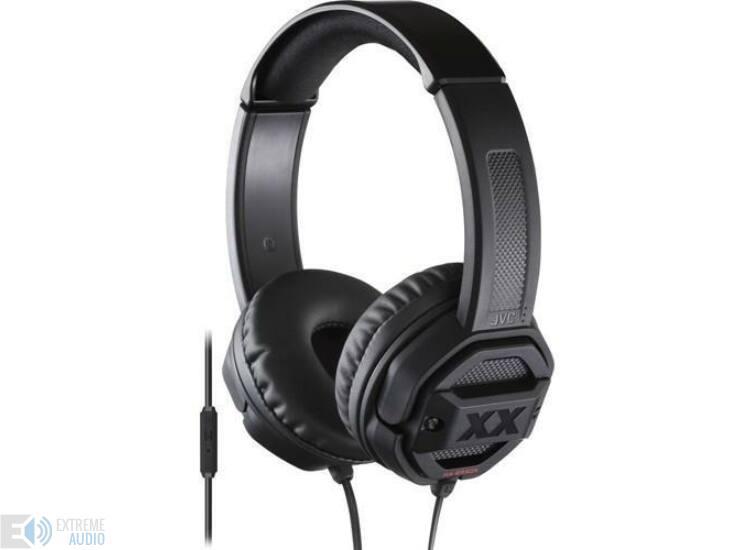 JVC HA-SR50X Xtreme Xplosives mikrofonos fejhallgató fekete