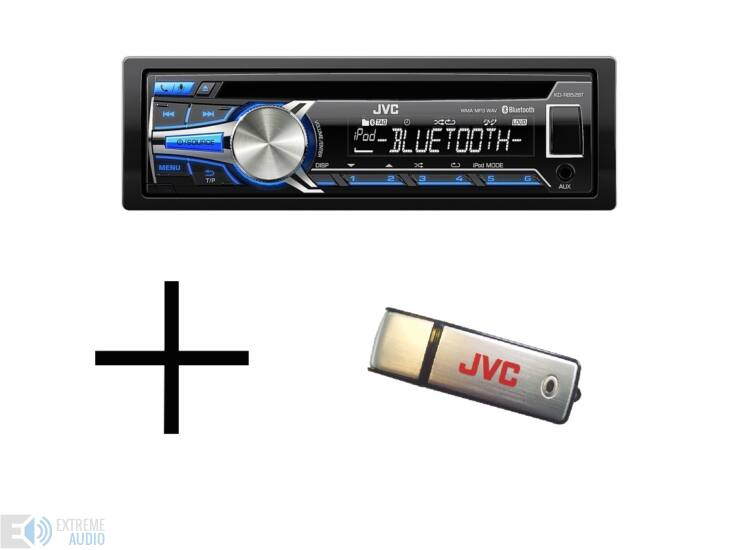 JVC KD-R852 + 8GB USB MP3/CD/USB/BLUETOOTH-os fejegység