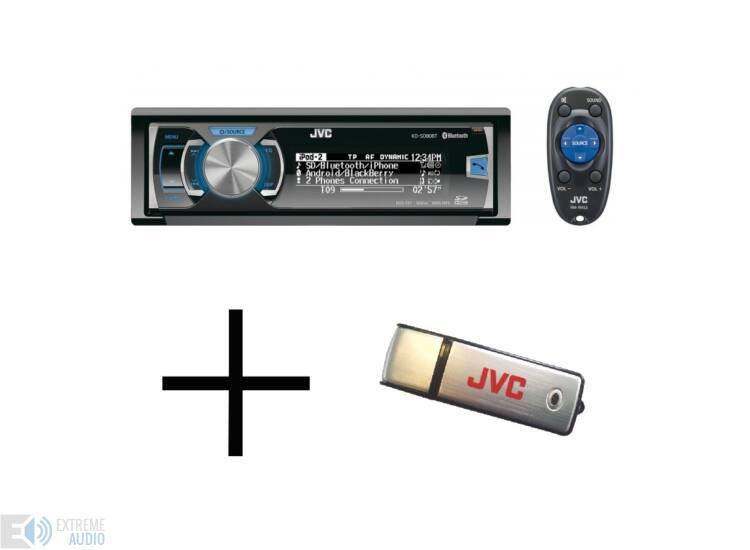 JVC KD-SD80BT + 8GB USB MP3/CD/USB/BLUETOOTH-os fejegység