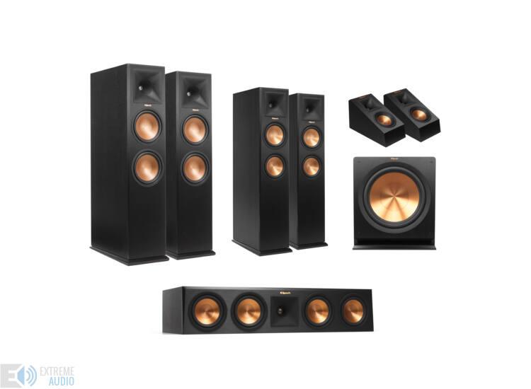 Klipsch RP-280FA 5.4.1 Dolby Atmos szett, fekete kőris