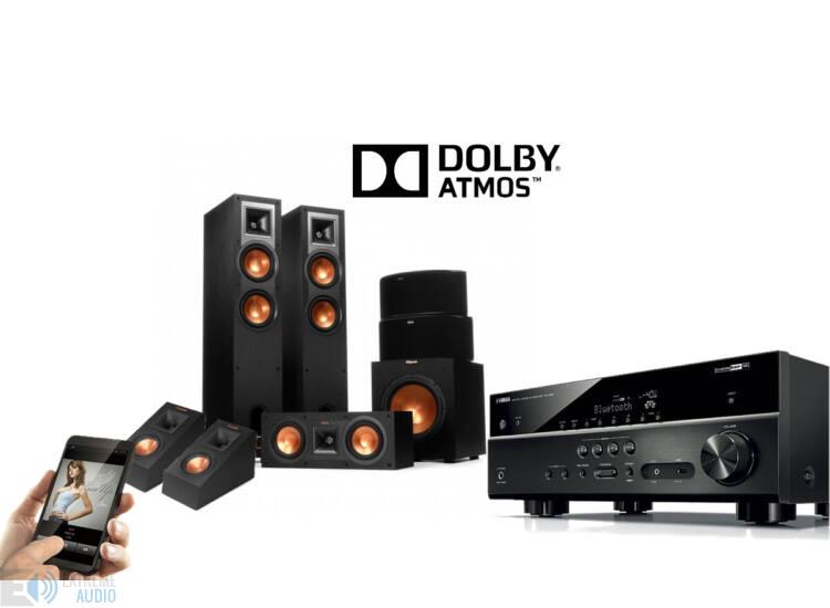 Klipsch R-26F 5.1.2  Dolby Atmos szett, Yamaha RX-V583 erősítővel