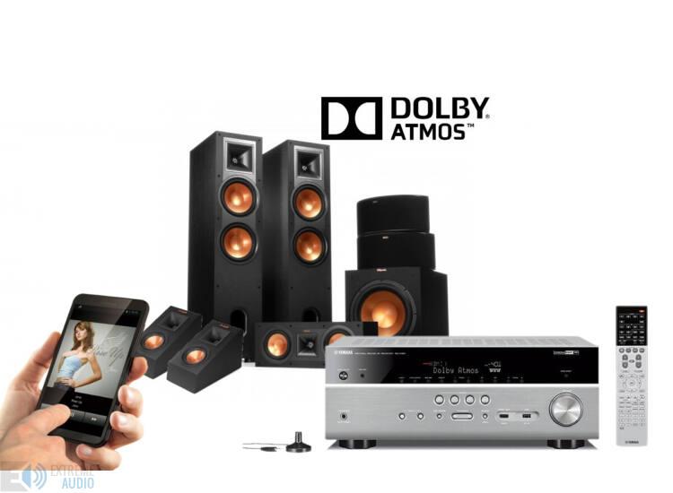 Yamaha RX-V683 titán + Klipsch R-28F 5.1.2 Dolby Atmos szett