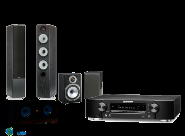 Marantz NR1504 + Monitor Audio MR6 + MR1 + MR Center 5.0 házimozi szett