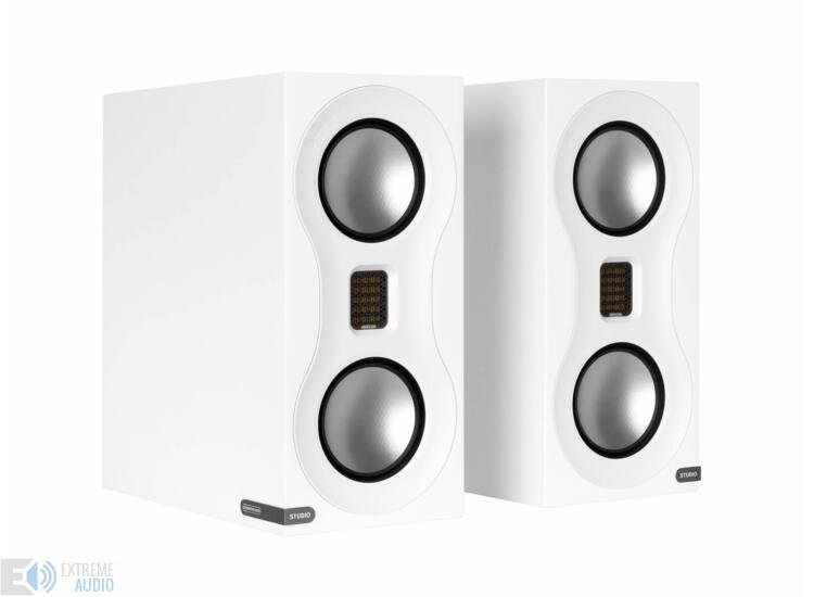 Monitor Audio Studio polcsugárzó, fehér (bemutató darab)
