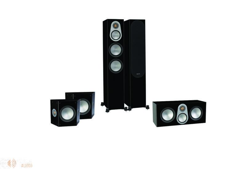 Monitor Audio Silver 300 5.0 hangfalszett, zongoralakk fekete