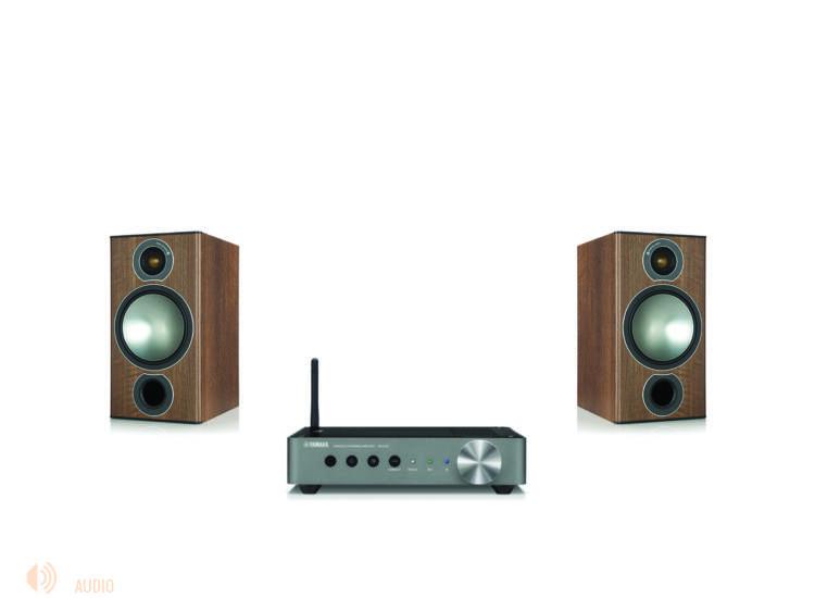 Monitor Audio Bronze 2 + Yamaha WXA-50 sztereó szett dió