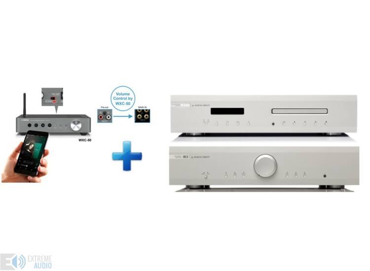 Musical Fidelity M3si + M3scd ezüst sztereó szett ajándék Yamaha WXC50 MusicCast hálózati lejátszó és előfok
