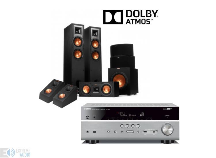 Klipsch R-26F 5.1.2  Dolby Atmos szett, Yamaha RX-V583 erősítővel, titán