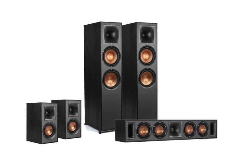 Klipsch R-820F 5.0 hangfalszett, fekete (R-820F+R-51M+R-34C)