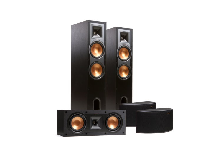 Klipsch R-28F 5.0 hangfal szett, fekete