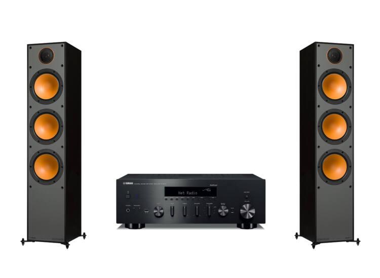 Monitor Audio Monitor 300 + Yamaha R-N602 sztereó szett