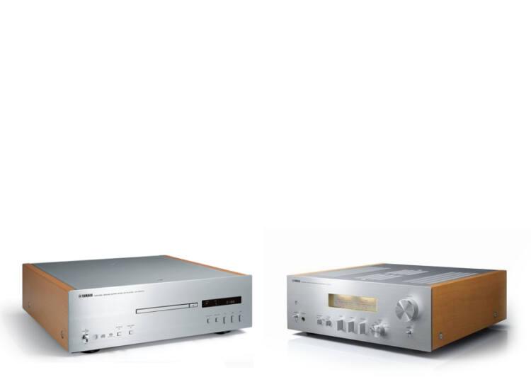 Yamaha A-S1100 Sztereó erősítő + Yamaha CD-S1000, ezüst